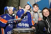 Fanoušci Litoměřic při prvním zápase kvalifikace o 1. ligu Stadion - Písek.