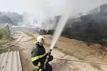 Požár u Bohušovic nad Ohří