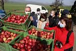 Zemědělské družstvo Klapý věnovalo jablka