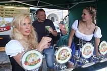 Pivní slavnosti na Mírovém náměstí v Litoměřicích v roce 2018.