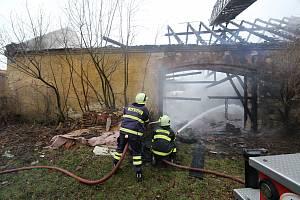 Požár stodoly v Ředhošti