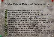 Dívka Talent Ústí nad Labem 2018.