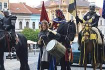 Rytíři královského rytířského turnaje Traken v Roudnici nad Labem.