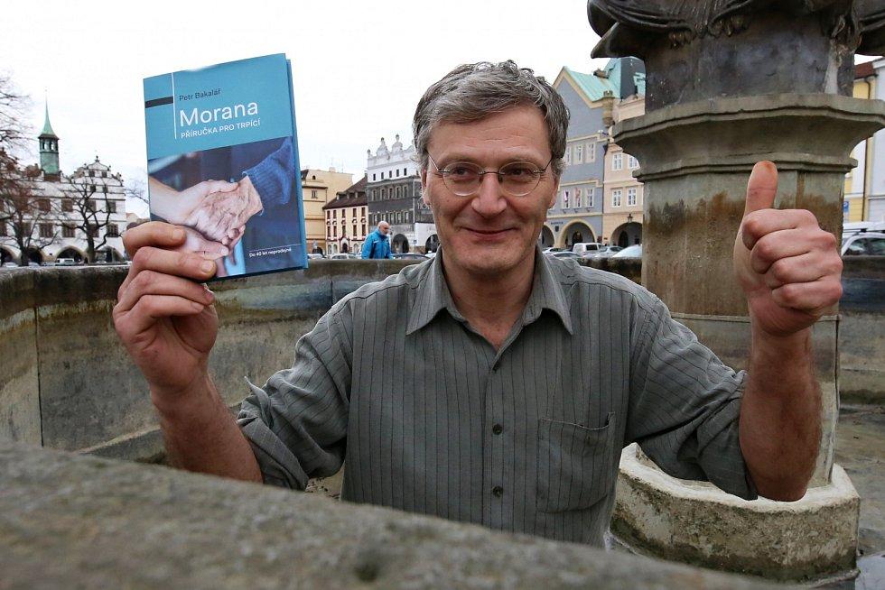 Petr Bakalář na náměstí v Litoměřicích. Zdejší kraj ho přitahoval od mala.