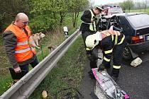 Dopravní nehoda u Velemína, úterý 26. 4. 2011.