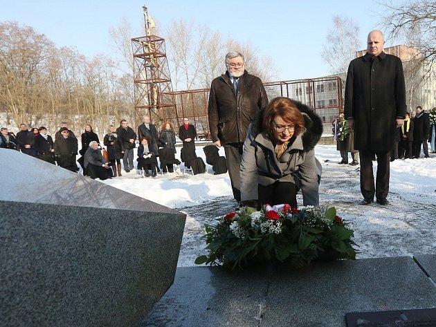 Uctění památky obětí holocaustu v Litoměřicích