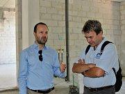 Manažer geotermálního projektu Antonín Tym (vlevo)