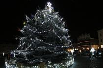 Komorní rozsvícení vánočního stromu v Litoměřicích.