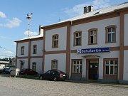 Vlakové nádraží v Bohušovicích nad Ohří.
