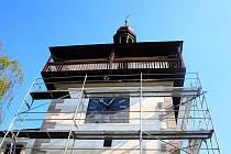 Na roudnické Hlásce je instalováno lešení. Jedna z nejvýznamnějších památek v Roudnici nad Labem totiž prochází v těchto dnech rekonstrukcí.