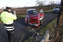 Havárie osobního automobilu u Sedlece