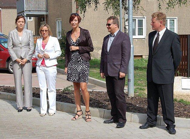 Slavnostní zakončení projektu opravených ulic v Lovosicích.