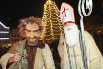 V Litoměřicích byl v pátek 5. prosince rozsvícen vánoční strom.