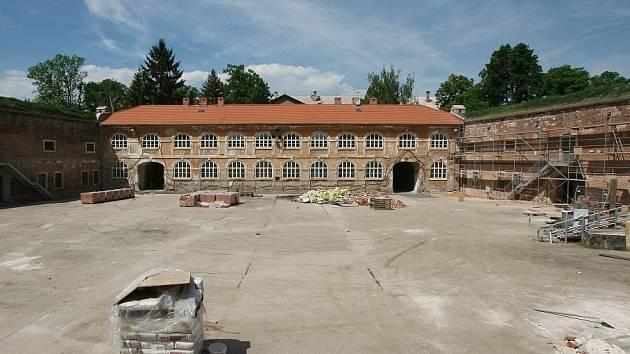 Pevnostní objekt Kavalír v Terezíně.
