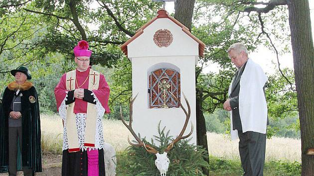 Vysvěcení kapličky sv. Huberta u Libochovan.