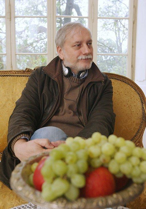 Natáčení pohádky Duch nad zlato v Ploskovicích, 2013.