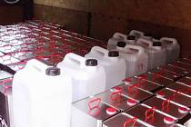 Zajištěné chemikálie na Terezínsku