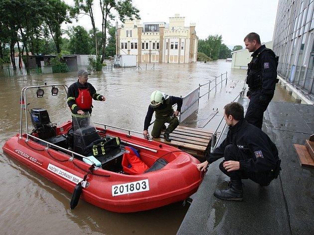 Povodeň v Lovosicích, úterý 4. června 2013