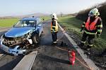 Nehoda u Ploskovic na silnici 1/15 z Litoměřic na Českou Lípu