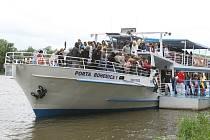 Jednou z událostí roku 2014 bylo zrušení plaveb výletní lodi Porta Bohemica