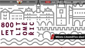 Část hlavní strany webu města Litoměřice