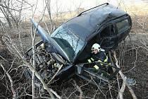 Nehoda u Dušníků, úterý 1. 3. 2011 odpoledne.