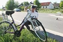 Střet motorkáře s cyklistou na Litoměřicku,