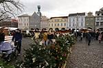 Vánoční trhy na litoměřickém náměstí. Sobota 14. prosince