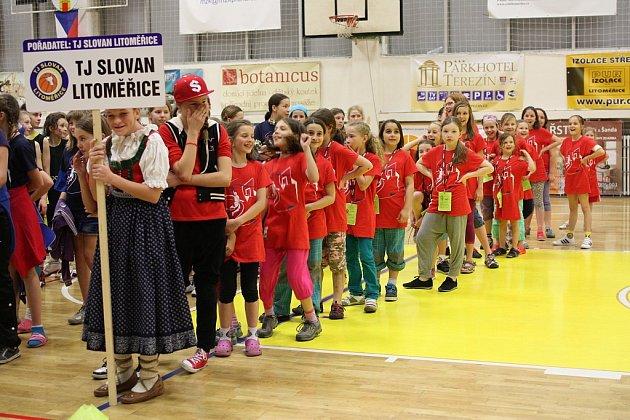 OLMA Národní finále v kategorii nejmladších minižaček uspořádal klub TJ Slovan Litoměřice.
