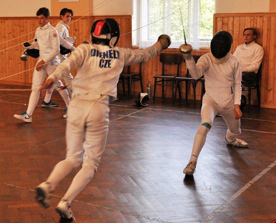 Litoměřičtí šermíři absolvovali letošní soustředění v Kytlicích. Foto: Jan Stehlík