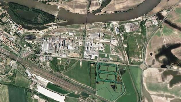 NOVÁ PRŮMYSLOVÁ ZÓNA má vyrůst na východním okraji Lovosic u silnice I/15 naproti Preolu.
