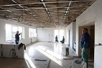Kulturní dům v Lukavci prochází rekonstrukcí.