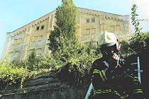 V bývalých litoměřických mrazírnách vznikl v červenci loňského roku mohutný požár poté, co oheň založili bezdomovci v místnostech, plných korku a asfaltu.