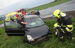 Dopravní nehoda u Sulejovic.