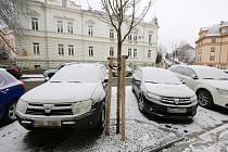 Parkování v nově opravené Palachově ulici v Litoměřicích