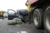 Nehoda na D8 u Lovosic v pondělí 15.8.