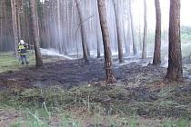 Požár lesa u obce Chodouny z 2. 6. 2008.