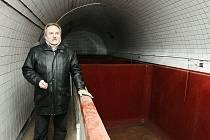 V PÁTEK si sklepy areálu pivovaru prohlédl také litoměřický starosta Ladislav Chlupáč.