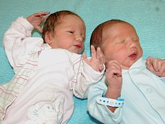 Kateřině Duškové a Františkovi Gíňovi ze Žitenic se 7.12. narodila v Litoměřicích dvojčata. Syn Petr Dušek v 16.55 hodin (50 cm, 3,29 kg) a dcera Anna Dušková v 16.59 hodin (51 cm, 2,87 kg).