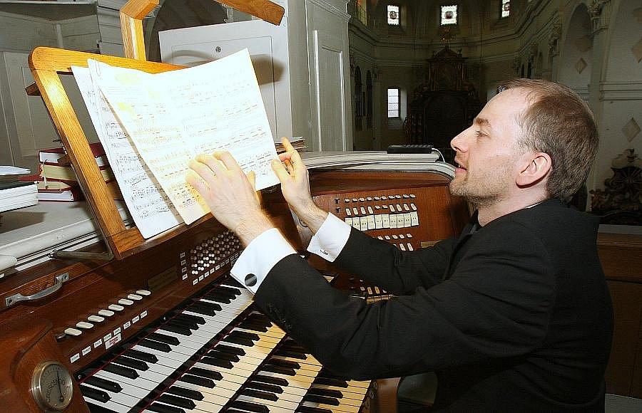 NĚMECKÝ VARHANÍK Krzystof Lukas zahrál v rámci Mezinárodního hudebního festivalu Litoměřické varhanní léto 2011 v katedrále sv. Štěpána.