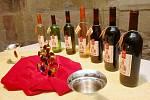 Představení královské kolekce vín v litoměřickém hradu.