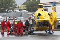 Pondělní nehoda v Lovosicích.
