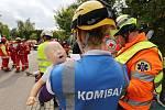 Mezinárodní cvičení záchranářů v Roudnici nad Labem.