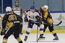 Hokejový zápas mezi Litoměřicemi a Kadaní