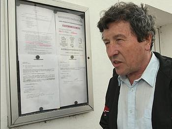 Starosta Lhotky nad Labem Jaroslav Pošva.
