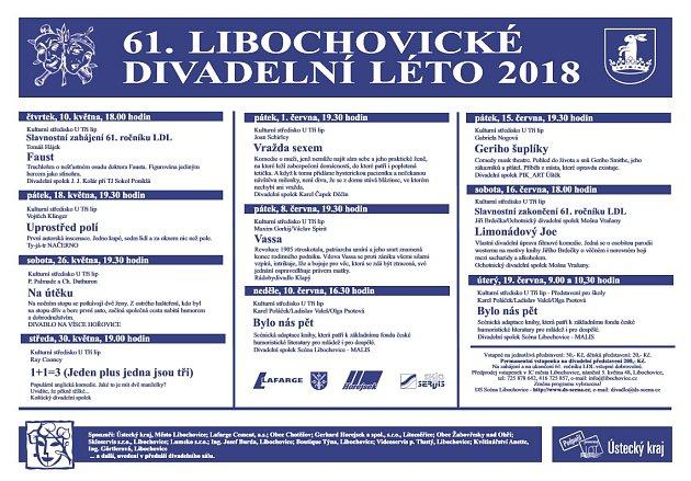 Libochovické divadelní léto 2018.