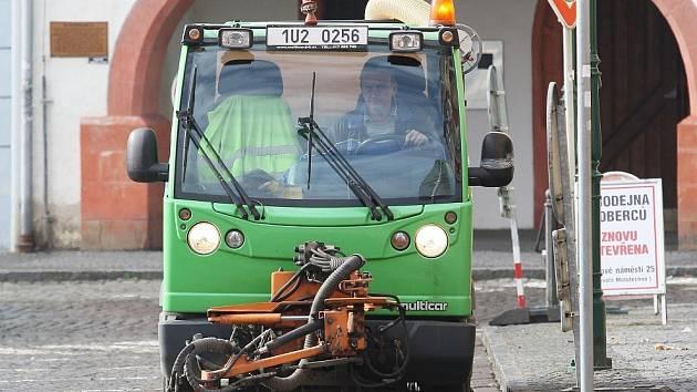 Úklid ulic v Litoměřicích