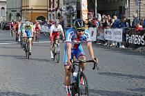 Závod míru juniorů 2019, cíl první etapy a vyhlášení vítězů.