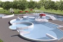 Studie dostavby letního koupaliště na Zálabí