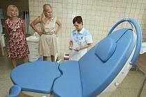 Vendula Svobodová v litoměřické nemocnici.
